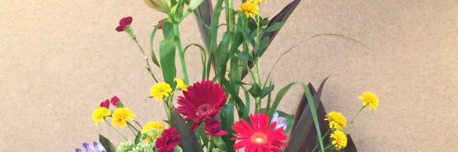 2017 高齢者祝福礼拝 講壇のお花